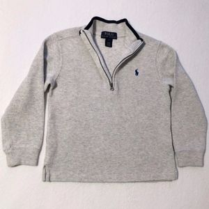 Ralph Lauren Rib Knit 1/2 Zip Pullover Top, Boys 6